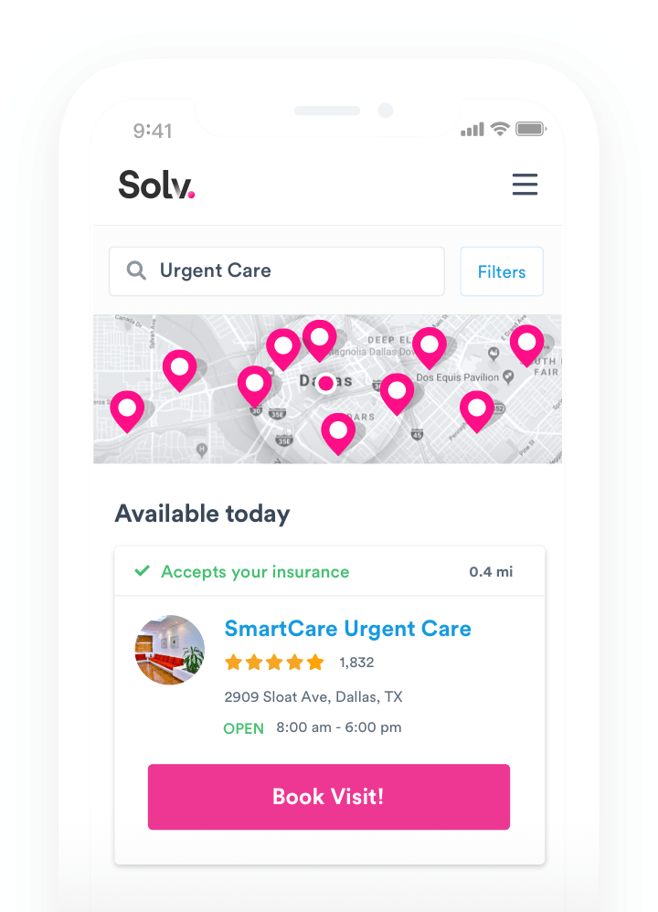 Solv App on an iOS Device